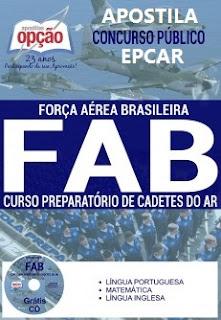 apostila Cadetes do Ar 2018 para concurso público CPCAR da Força Aérea Brasileira