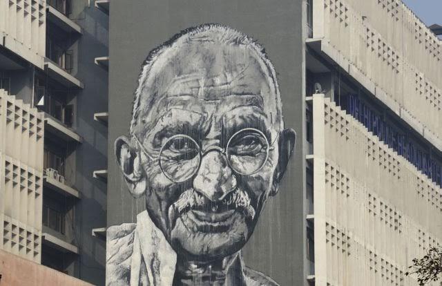 Mahatma Gandhi Mural at Delhi Police HQ