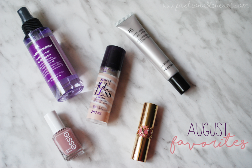 bbloggers, bbloggersca, essie ladylike, ole henriksen nurture me facial water, covergirl simply ageless foundation, arbonne sheer glow highlighter, ysl rouge volupte nude beige, canadian beauty bloggers