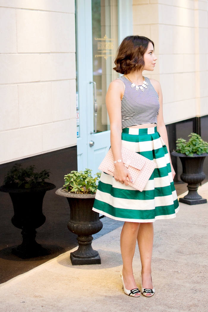 stripe mixing outfit