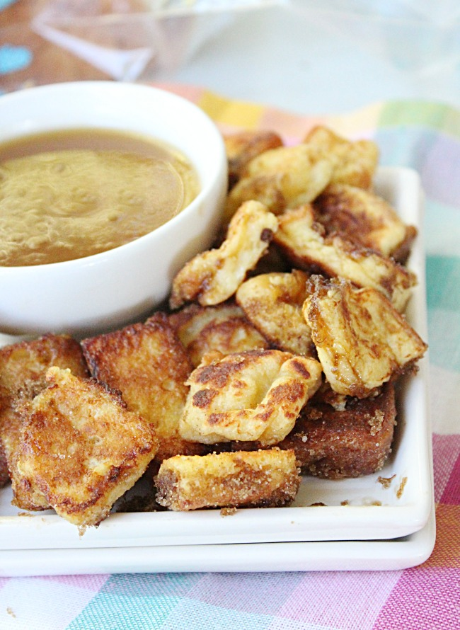 French Toast Bites with Maple Butter Dipping Sauce