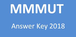 MMMUT 2018 Answer Key Paper and Question Paper PDF www.mmmut.ac.in
