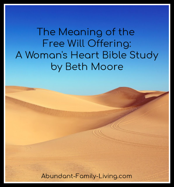 The Meaning of the Free Will Offerings