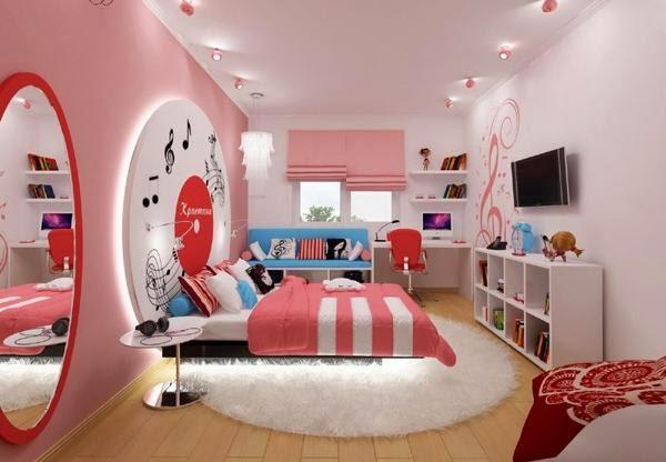 cuarto juvenil rosa