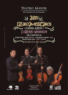 POSTER Cuarteto M4nolov: Aires Latinomericanos