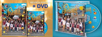 """Revista Pôster com DVD e CD """"As Aventuras de Poliana"""" - Divulgação"""