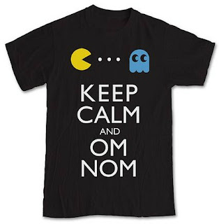 Keep Calm and Om Nom Pac-Man T-shirt