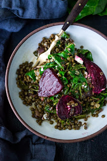 kale beet and goat cheese salad