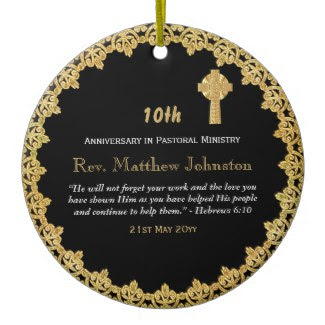 10th anniversary of ordination ornament priest