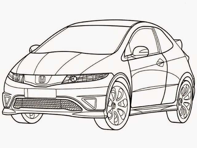 Honda Civic Type R Coloring Pages Printable