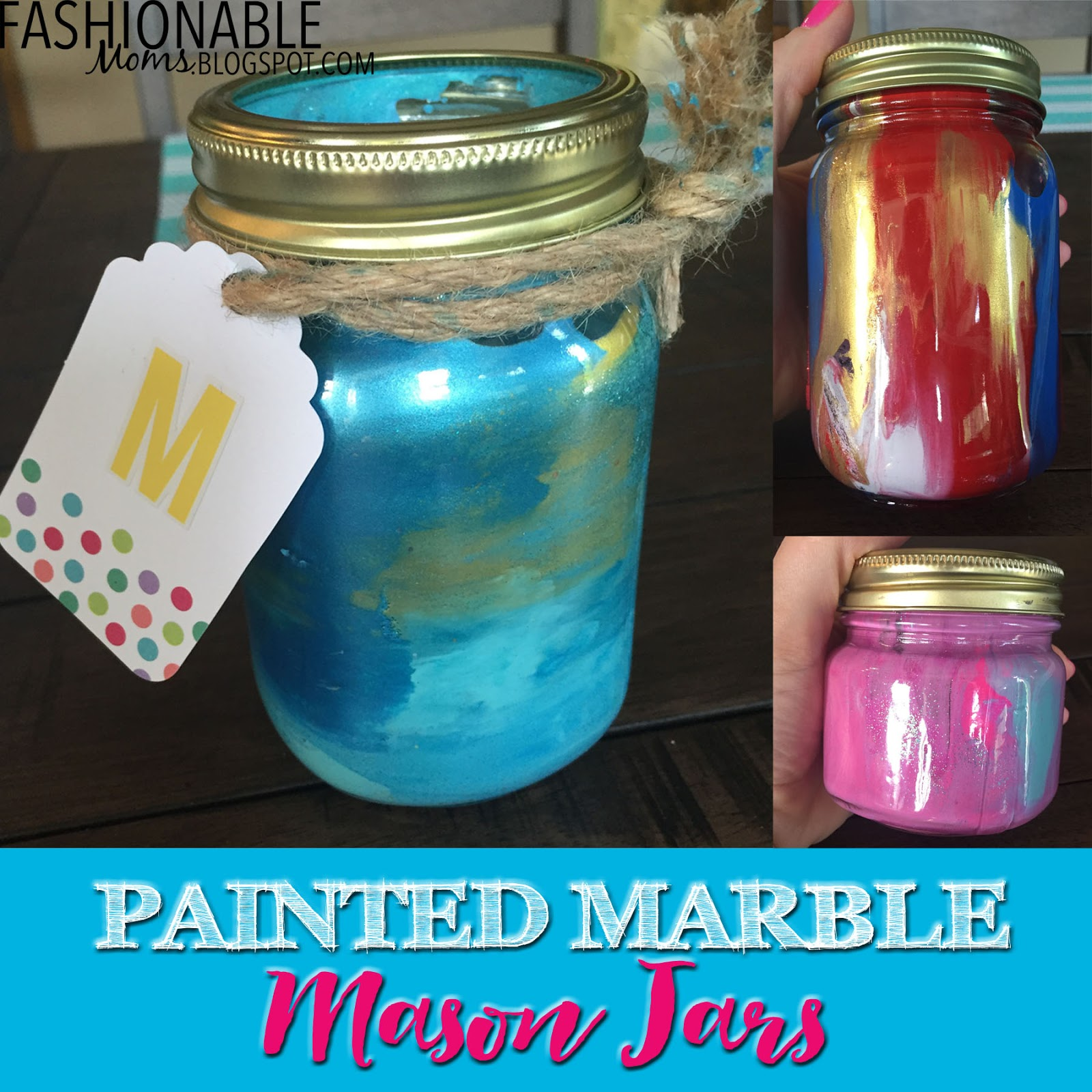 mason jars painted - photo #17