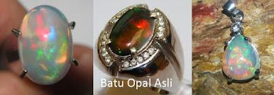 batu kalimaya dan black opal asli