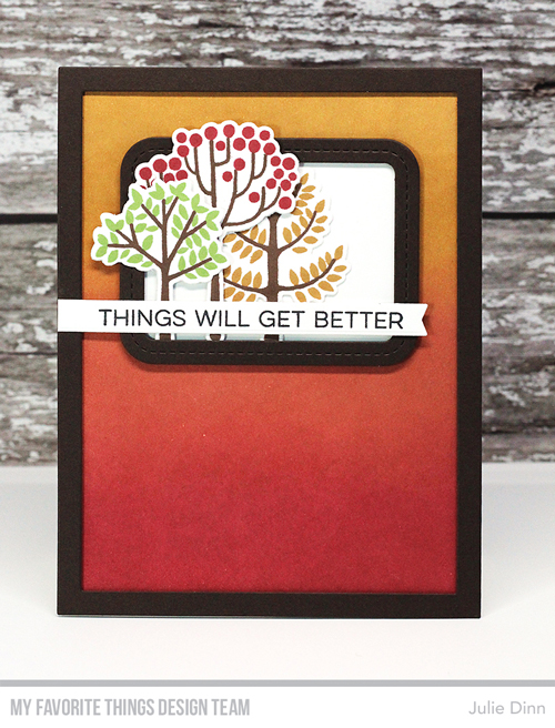 Handmade card from Julie Dinn featuring products from My Favorite Things #mftstamps