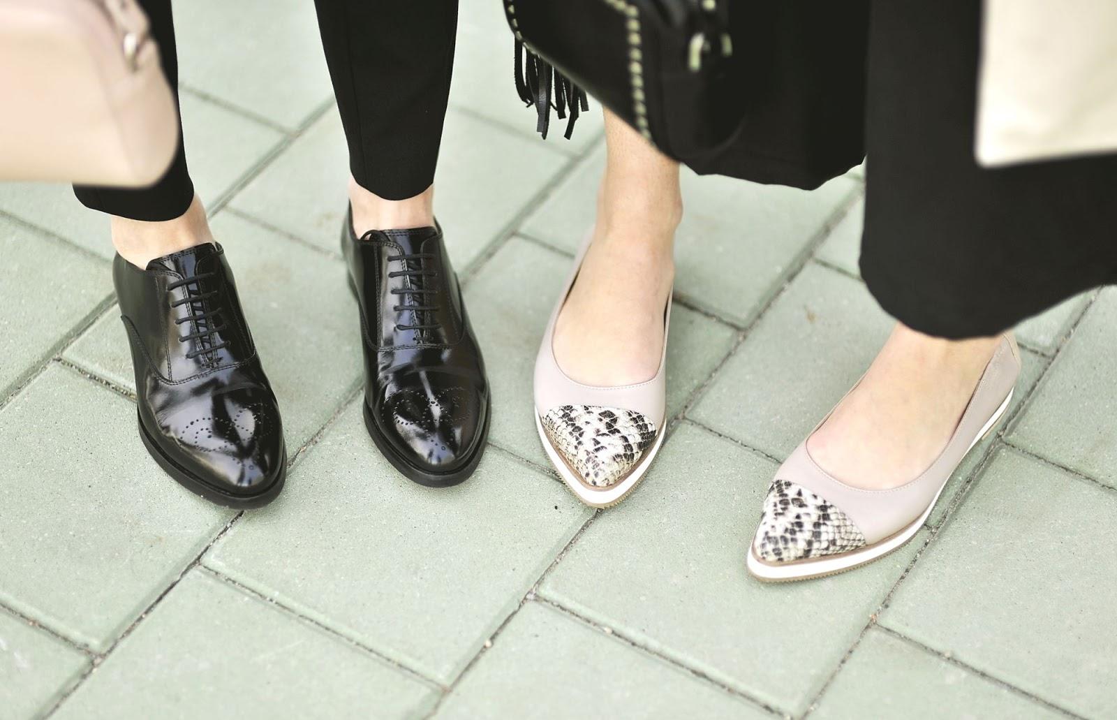 stylizacja do pracy | buty na wiosne | baleriny | shinysyl