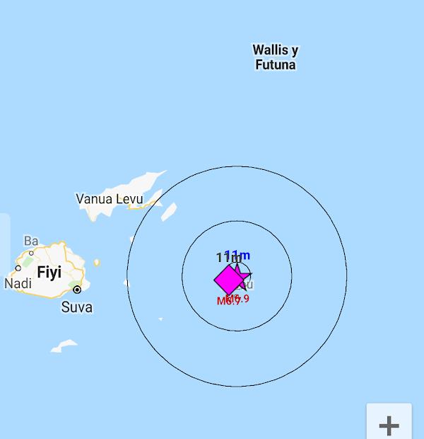 ULTIMA HORA: Fuerte sismo cerca de la isla fiji.