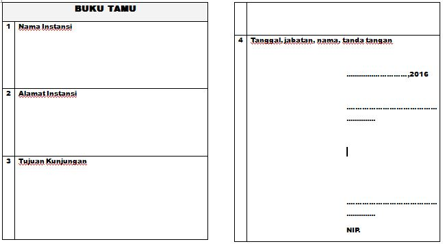 Contoh Format Buku Tamu PAUD-TK-RA Tahun Ajaran 2016-2017 dengan Microsoft Word