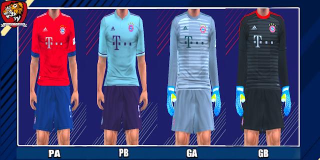 Bayern Munich 18/19 Kits - PES PSP (PPSSPP)