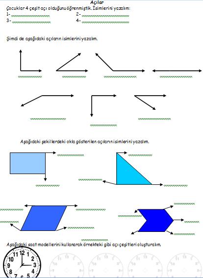 3. Sinif Matematik - Geometri Konulari Çalişma Sayfalari ...