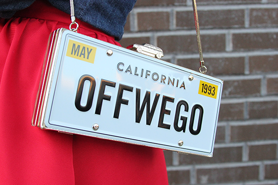 Kate Spade New York Off We Go License Plate Clutch