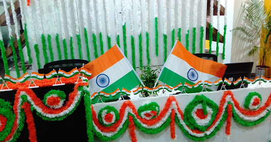 Celebrations of Independence Day In our Office