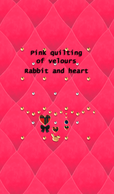 Pink quilting of velours(Rabbit,heart)