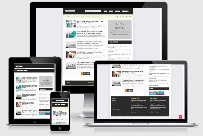 5 Template Blog Simple Seo Friendly Terbaru Premium