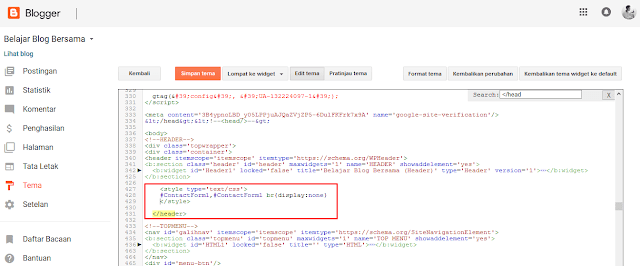 Cara Membuat Contact Form (Contact Us) Keren di Blogspot - Cara Menambahkan Widget Formulir Kontak di Blogger 1