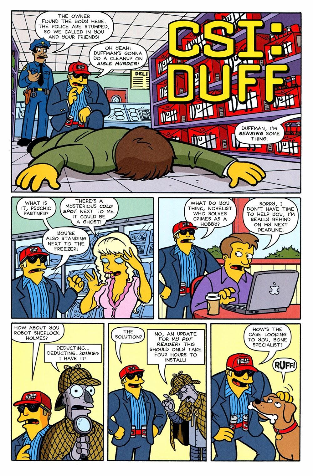 Simpsons One-Shot Wonders – Duffman 01 (2014) | Viewcomic reading