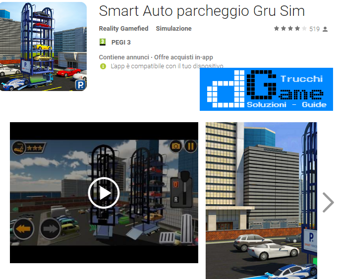 Trucchi Smart Car Parking Crane 3D Sim Mod Apk Android v1.3