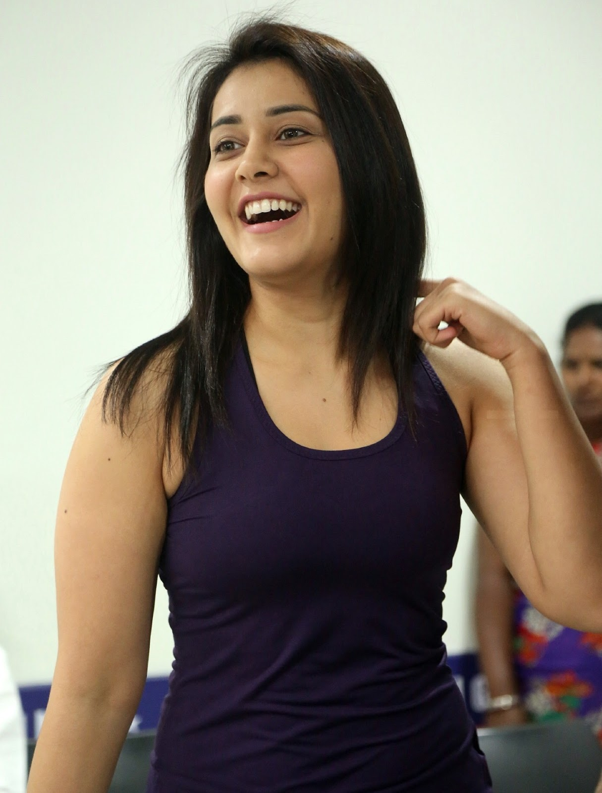 Rashi Khanna Photos In Violet Dress