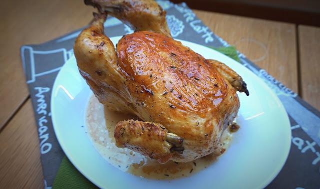 Pollo al horno, estilo francés.