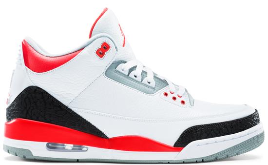 sports shoes 08635 64eb9 Air Jordan 3 Retro (08 03 2013) 136064-120 White Fire Red-Silver-Black   160.00