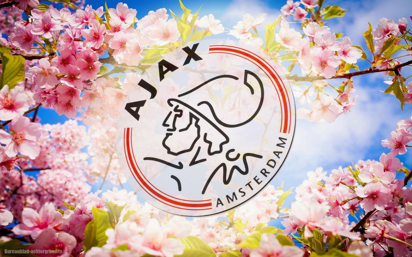 Ajax achtergrond met veel roze bloemen