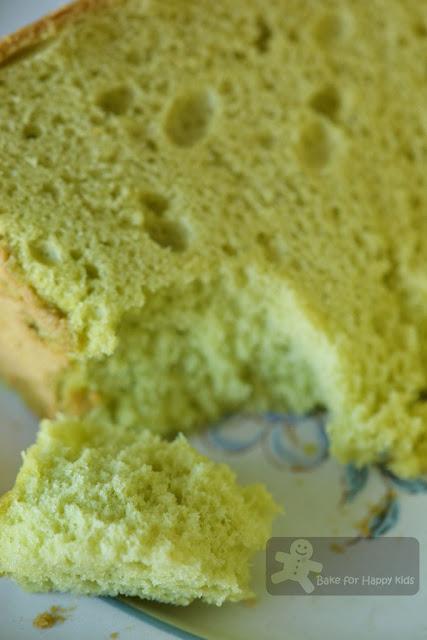 soft fluffy best pandan chiffon cake