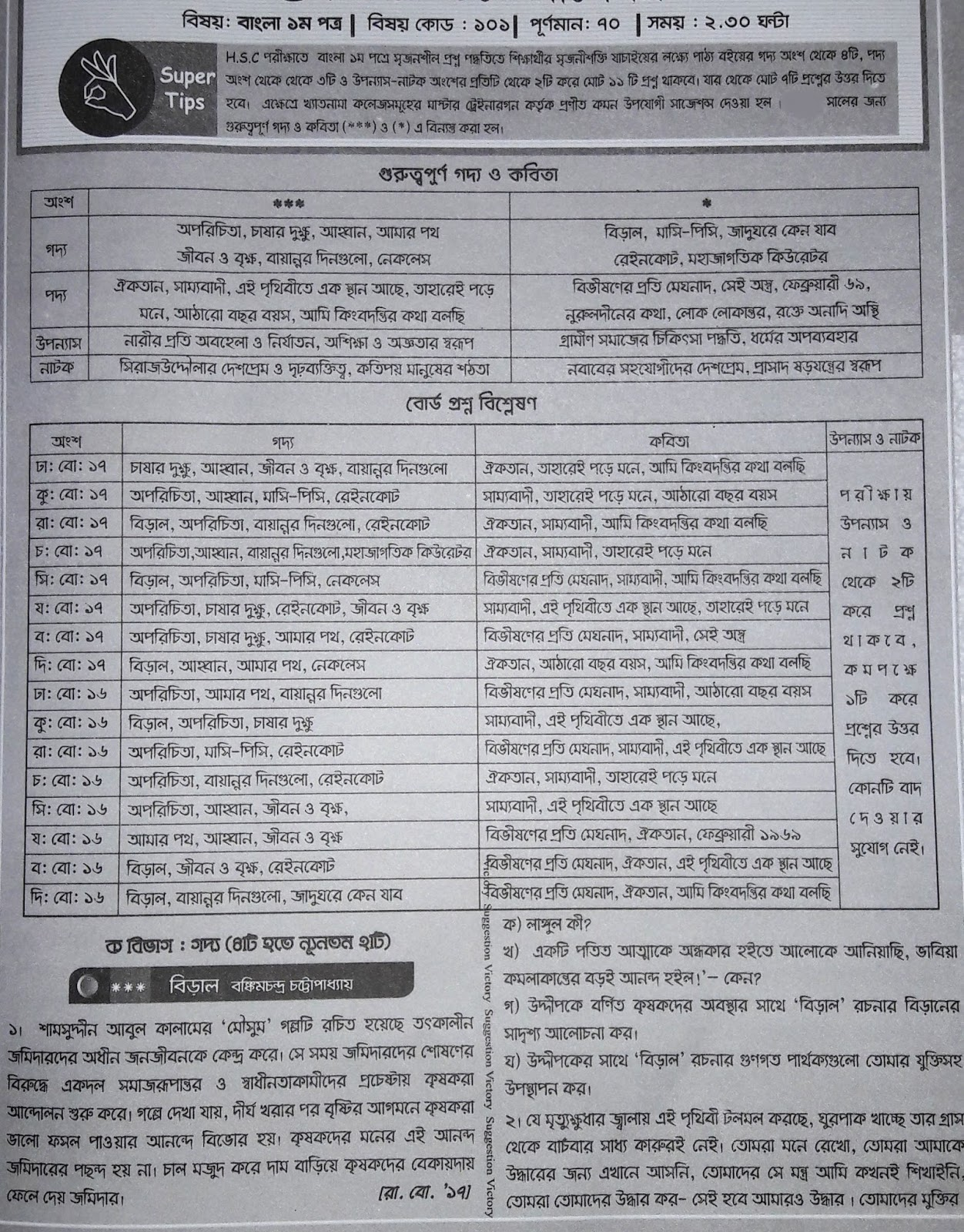 HSC BANGLA 2ND PAPER BOOK