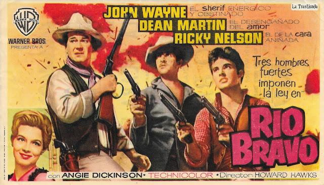 Programa de Cine - Río Bravo - John Wayne - Dean Martin - Ricky Nelson