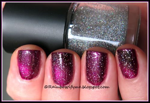China Glaze: Positively In Love, Monki: Silvered
