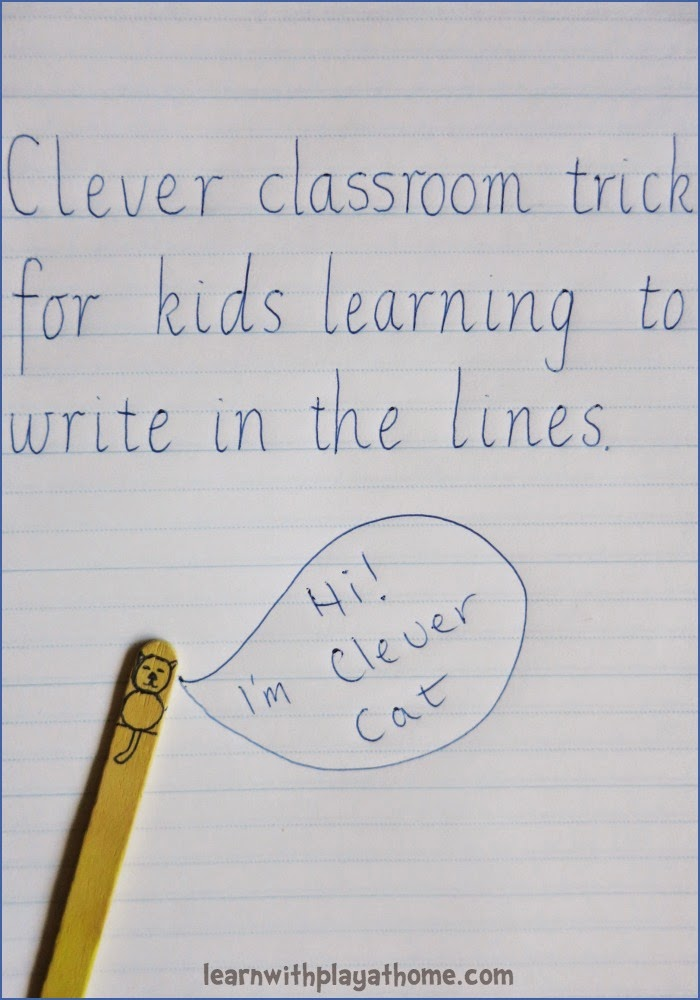 Learn with Play at Home Clever classroom trick for kids learning to