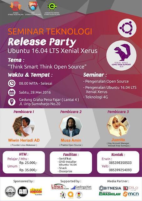 Seminar Teknologi Release Party Ubuntu 16.04 LTS