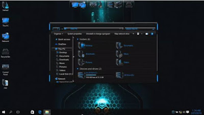 skinpack untuk windows 10, HUD Blue Skin Pack,  Skin Pack