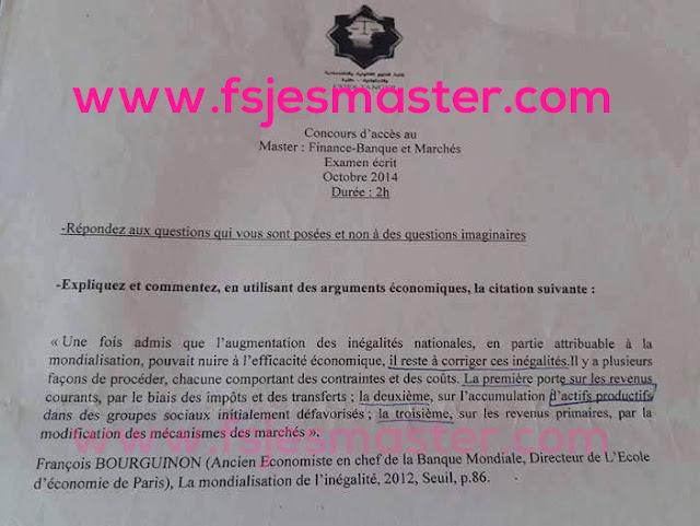 Master Finance Banque et Marchés