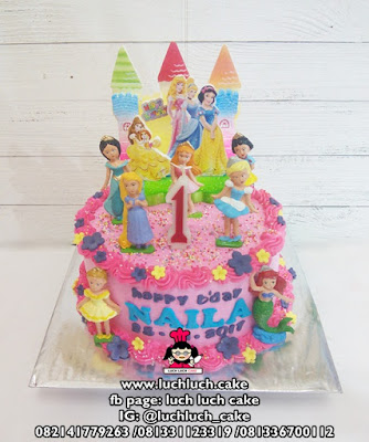 Kue Tart Buttercream Princess Disney