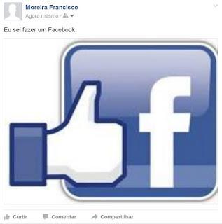 Como posto uma foto no meu Facebook
