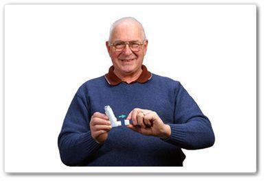 metered dose inhaler without a separator