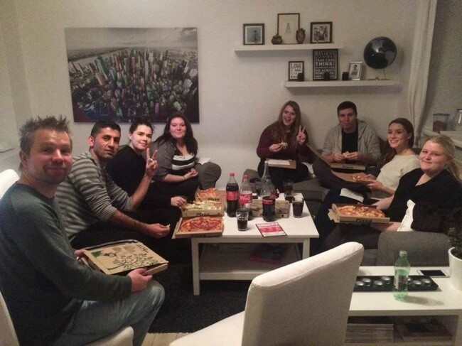 15 Powerful Pictures That Will Make Your Day - This guy arranges parties at his house for lonely strangers.