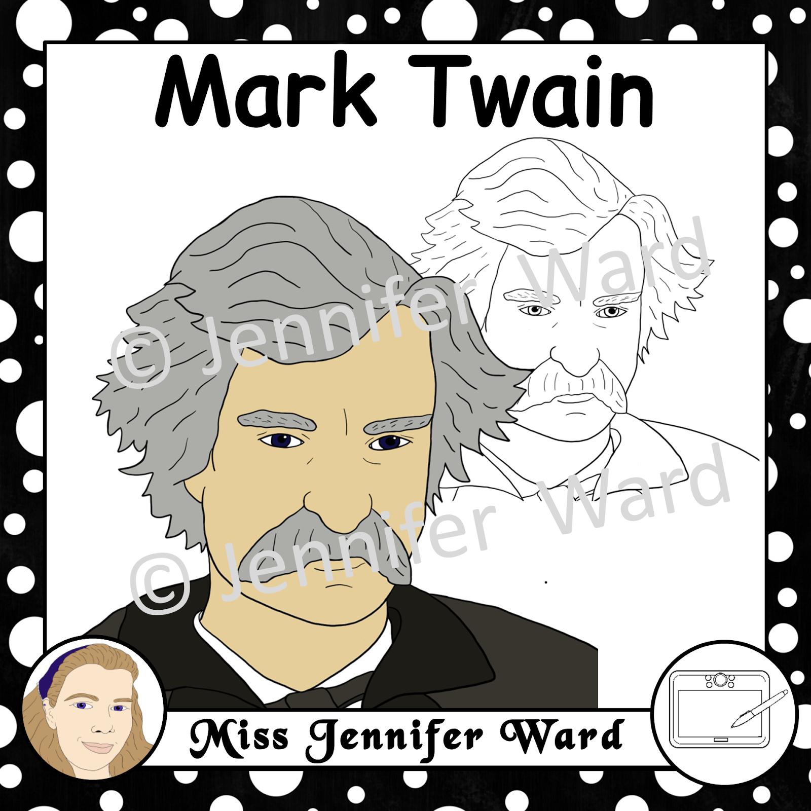 https://www.teacherspayteachers.com/Product/Mark-Twain-Clipart-2429089