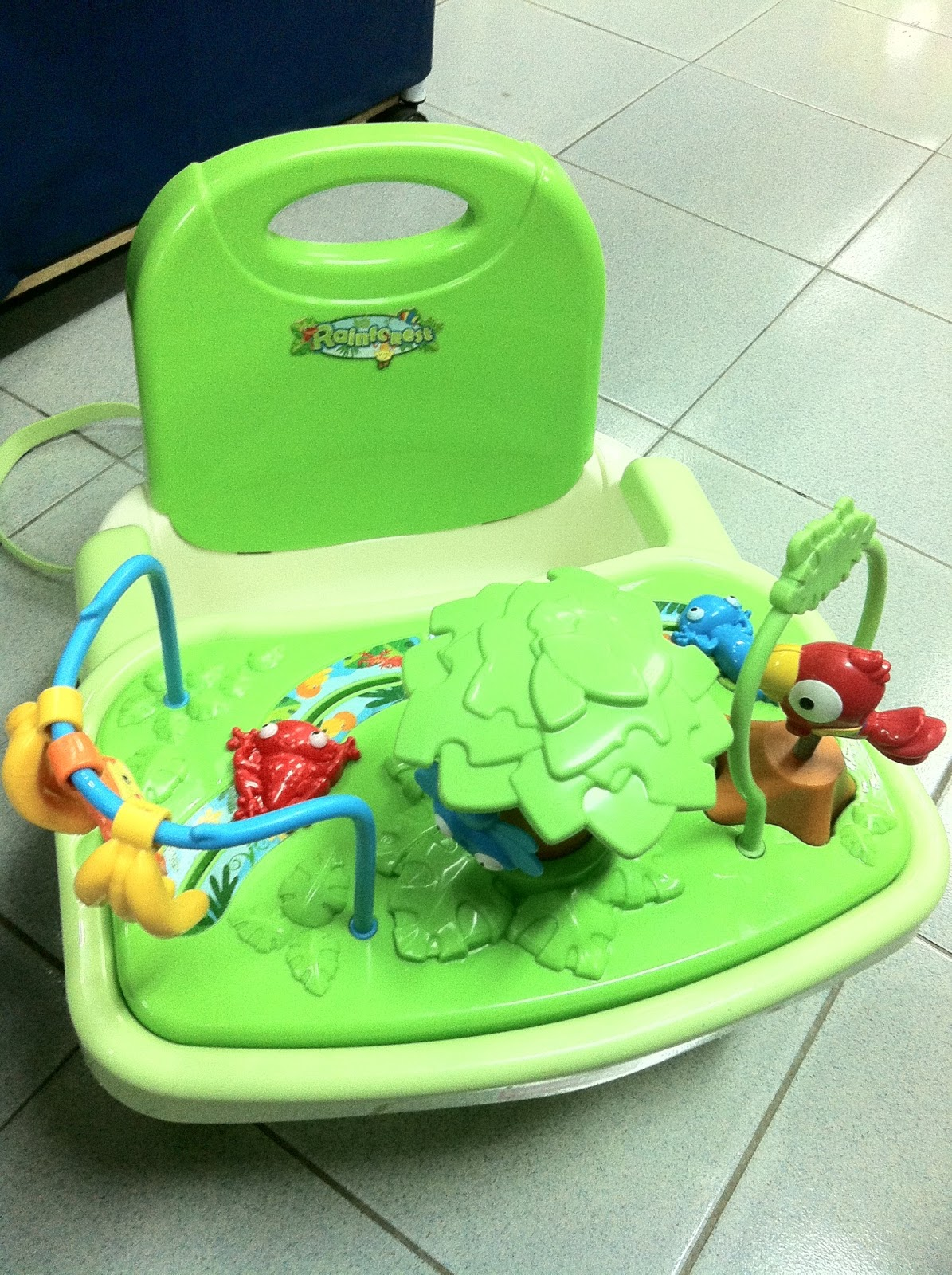 fisher price rainforest healthy care high chair 2 rubber casters preloved toysworld thetottoys
