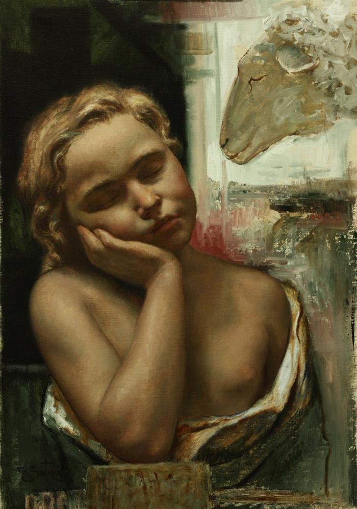Cesar Santos 1982 | Cuban-born American Figurative painter | Nude Portrait