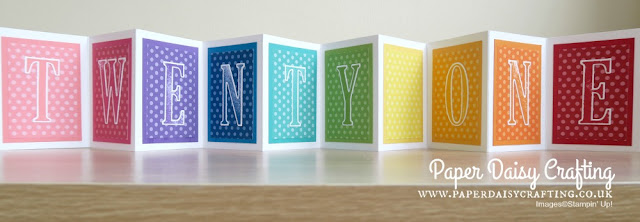Large letter dies Stampin' Up!