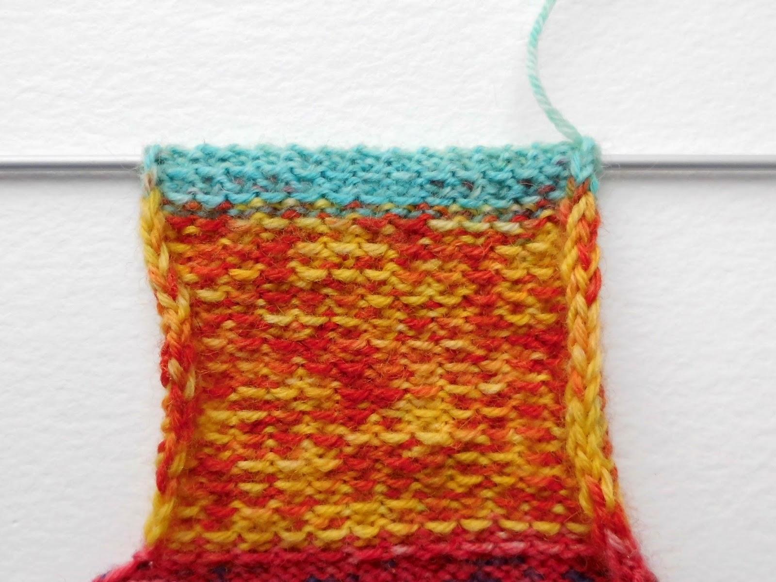 Sock knitting for beginners: heel flap wrong side